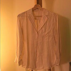 Vintage Style 100% silk blouse